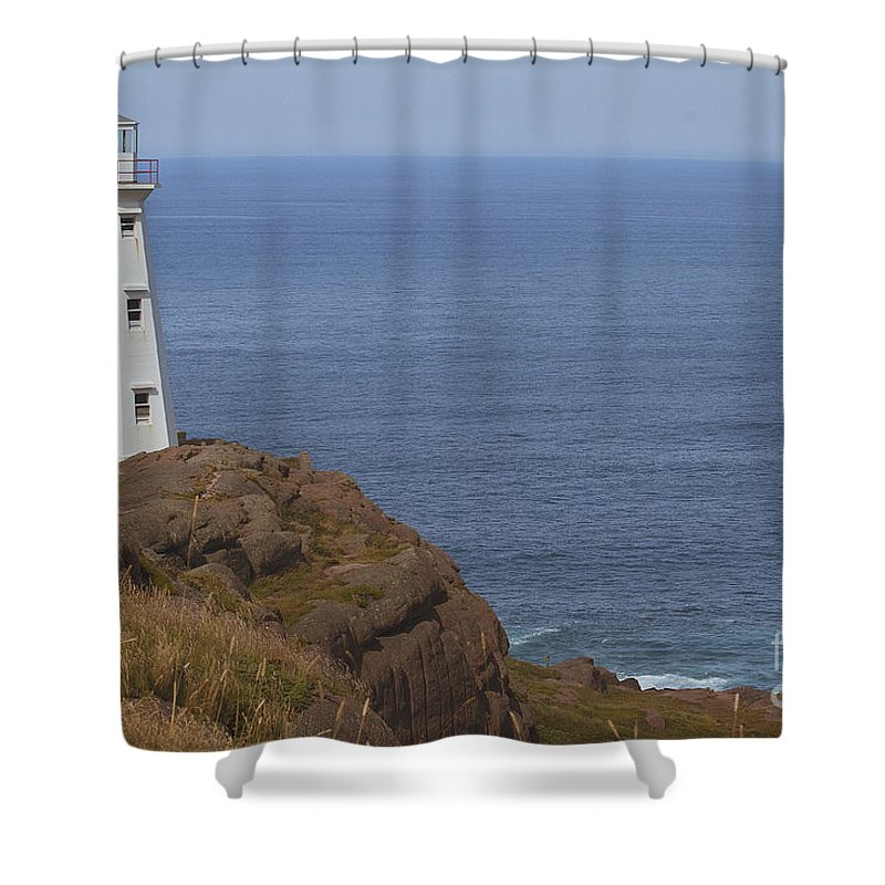 Lighthouse Shower Curtain featuring the photograph Cape Spear by Eunice Gibb