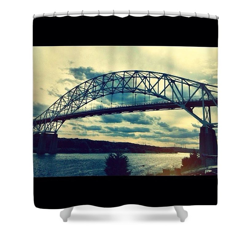 Cape Cod Shower Curtain featuring the photograph Under The Bridge by Kate Arsenault