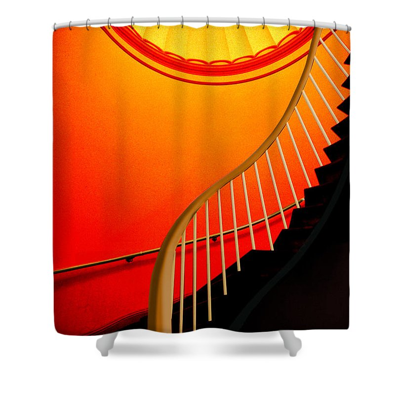 Capital Shower Curtain featuring the photograph Capital Stairs by Paul Wear