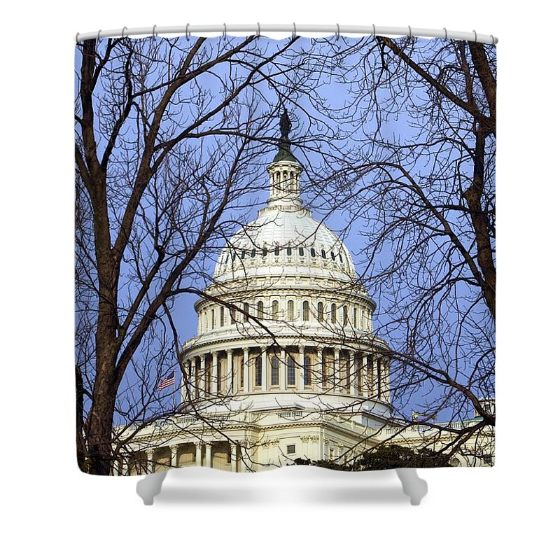 Capitol Shower Curtain featuring the photograph Capitol by Mitch Cat