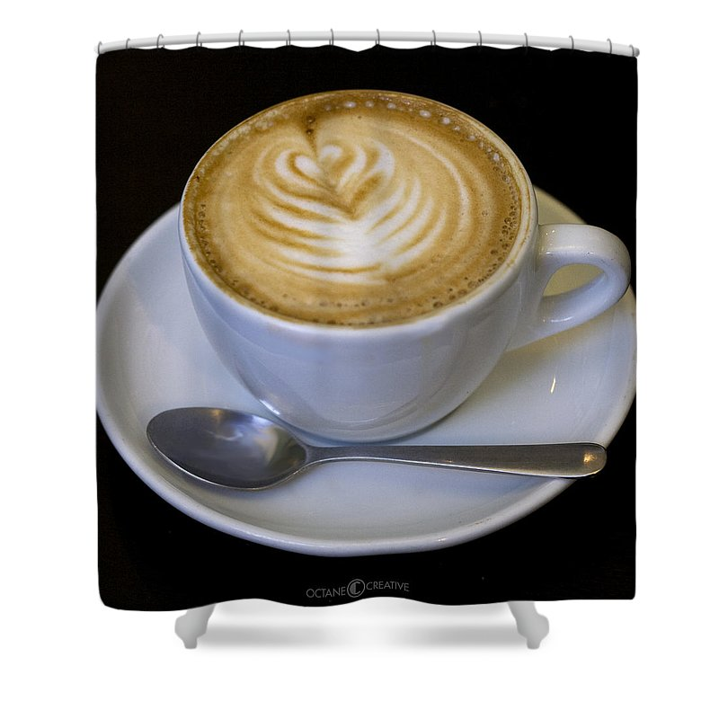 Coffee Shower Curtain featuring the photograph Cappuccino by Tim Nyberg