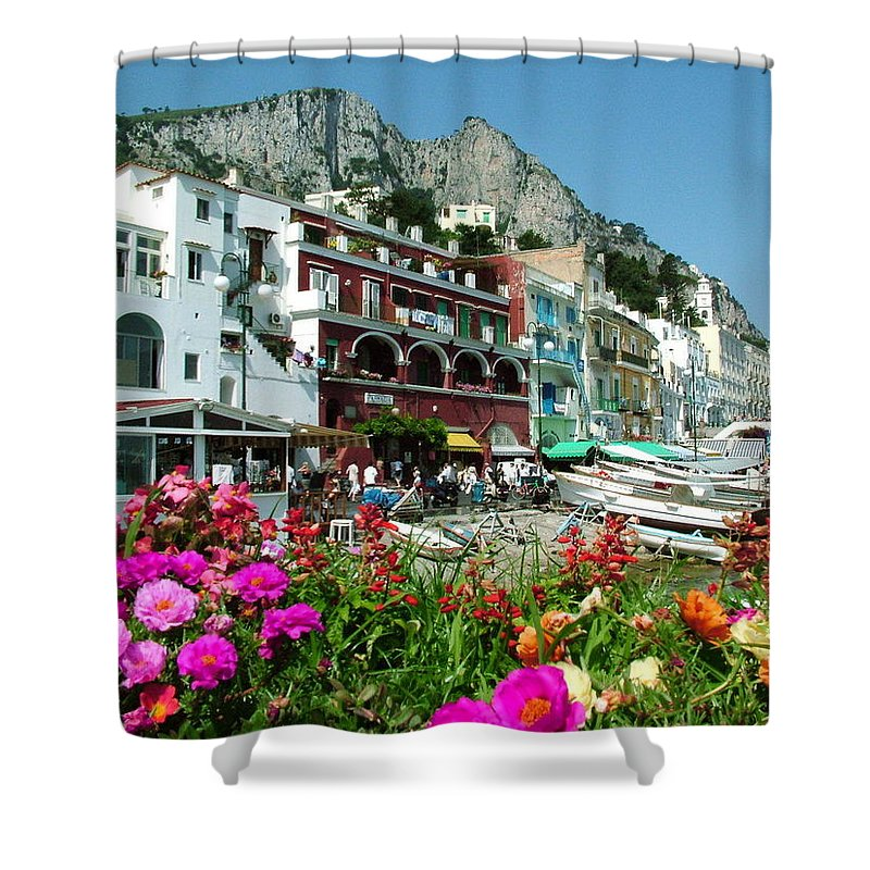 Capri Shower Curtain featuring the photograph Capri by Donna Corless