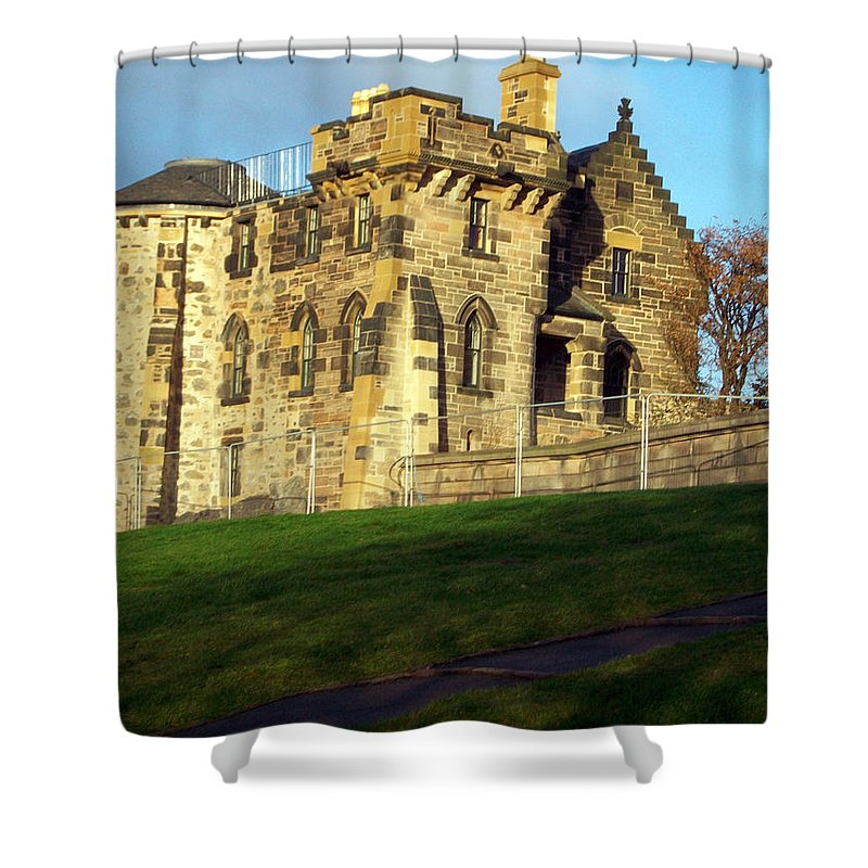 Scotland Shower Curtain featuring the photograph Caption Hill Building by Munir Alawi