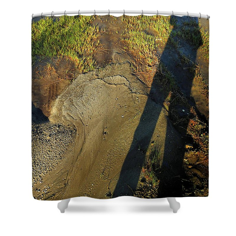 Shadow Shower Curtain featuring the photograph Captured But Not Contained by Laura Ragland