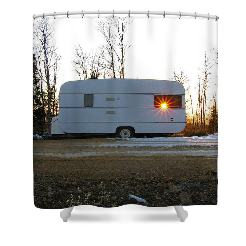 Caravan Shower Curtain featuring the photograph Caravan by Are Lund