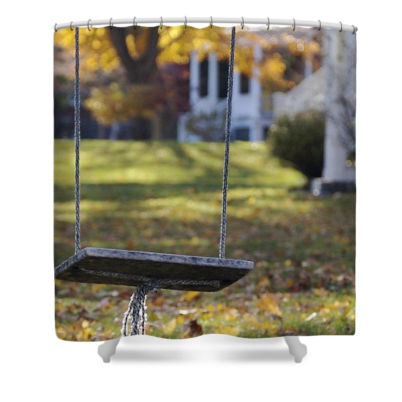 Swing Shower Curtain featuring the photograph Carefree by Faith Harron Boudreau