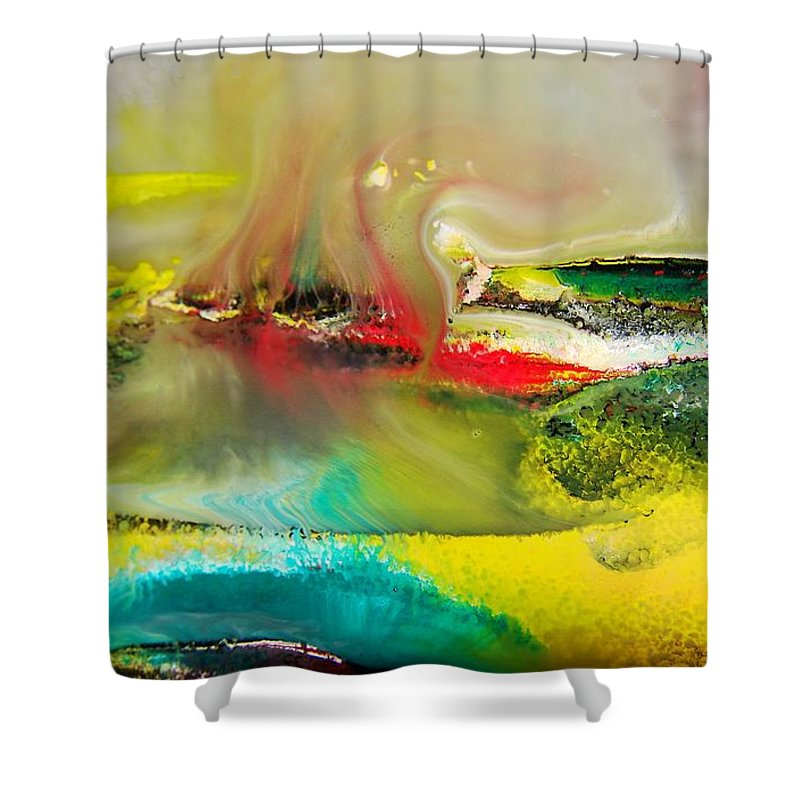 Abstract Shower Curtain featuring the photograph Caressed By Time by Nordan Nielsen