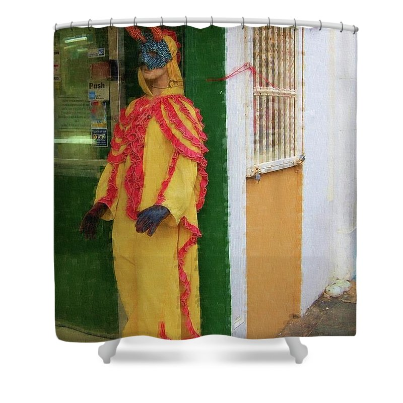 Mask Shower Curtain featuring the photograph Careta Hombre by Debbi Granruth