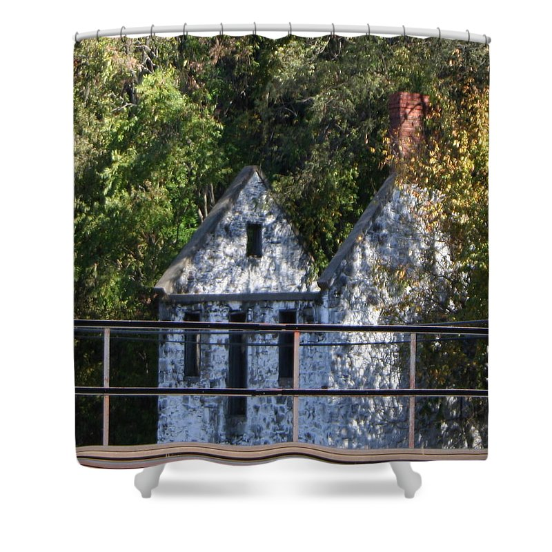 Stone House Shower Curtain featuring the photograph Caretakers House by Rebecca Smith