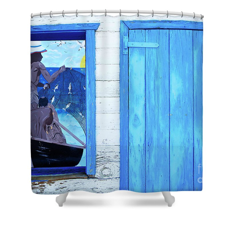Caribbean Shower Curtain featuring the photograph Caribbean Blues by Bob Christopher