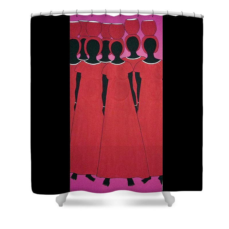 Women Shower Curtain featuring the painting Caribbean Pink by Stephanie Moore