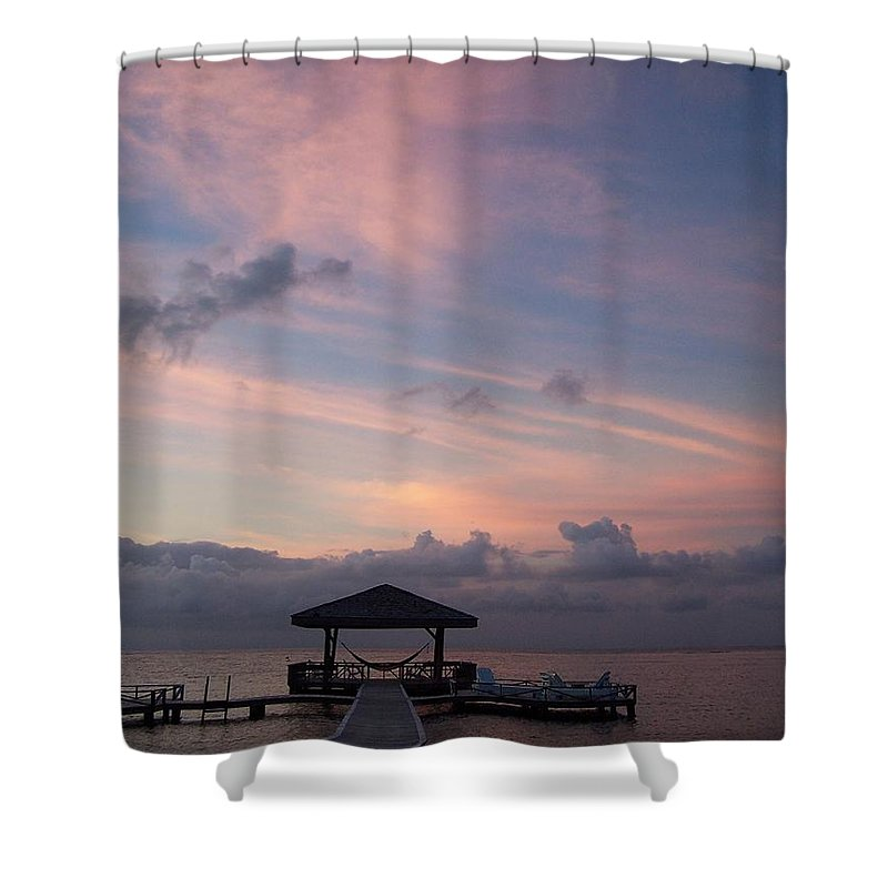 Ocean Shower Curtain featuring the photograph Caribbean Sunrise by Gale Cochran-Smith