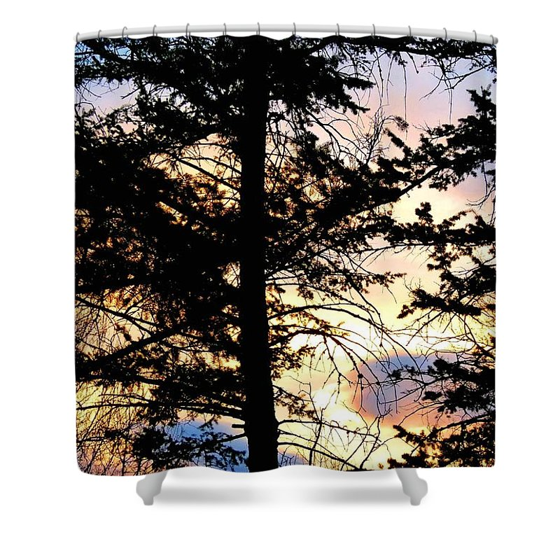 #cariboodistrictsunset Shower Curtain featuring the photograph Cariboo District Sunset by Will Borden