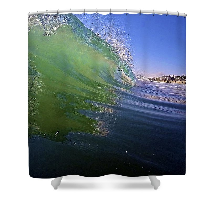 Wave Shower Curtain featuring the photograph Carlsbad Wave 4 by Michael Cappelli