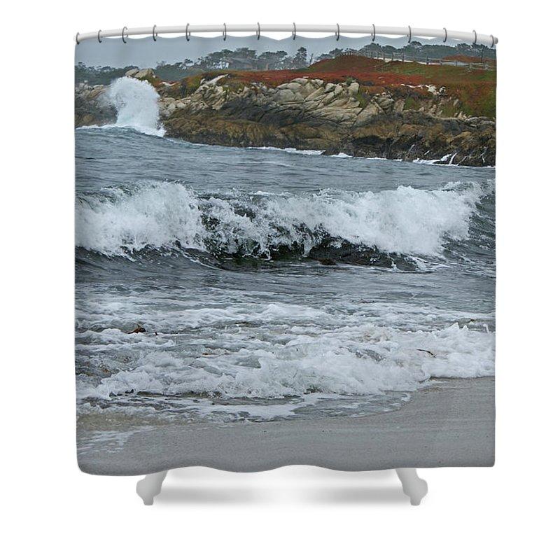Beaches Shower Curtain featuring the photograph Carmel 3 by Ernie Echols