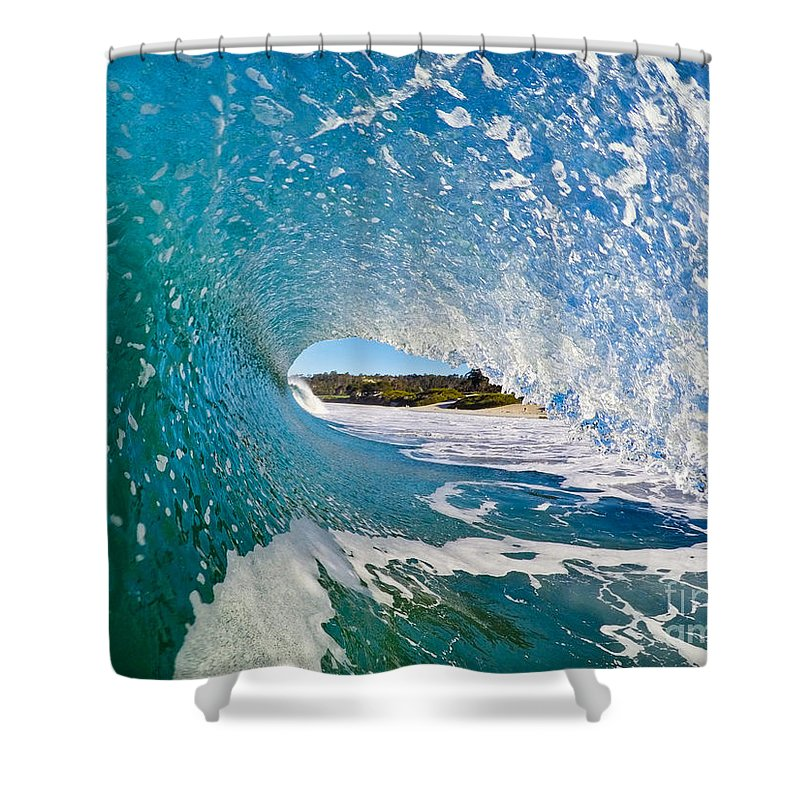 Waves Shower Curtain featuring the photograph Carmel Blues by Paul Topp