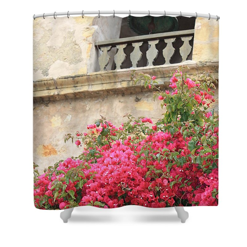 Carmel-by-the-sea Shower Curtain featuring the photograph Carmel Mission Bell by Carol Groenen