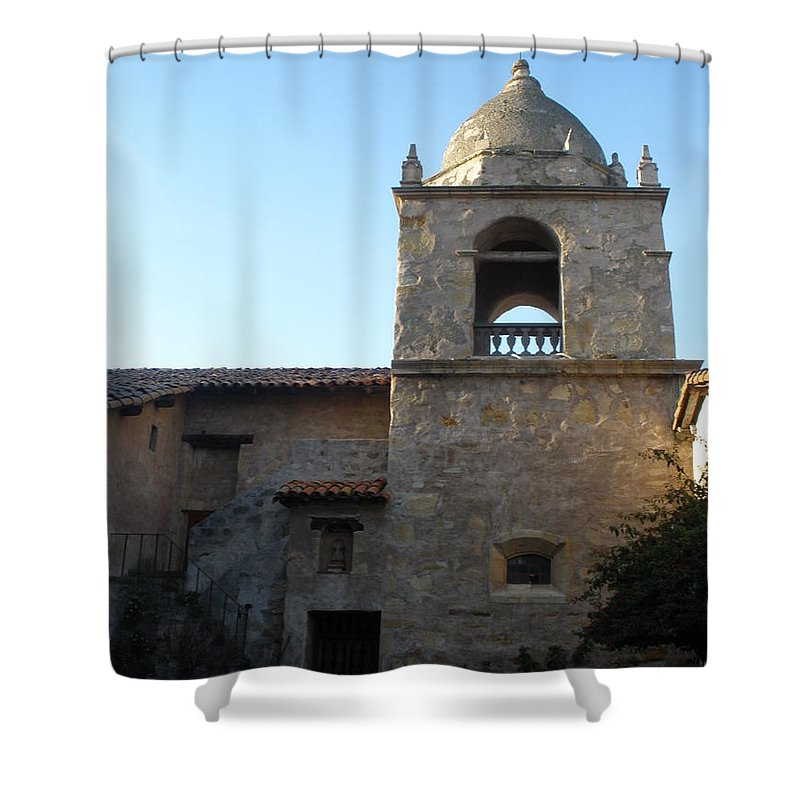 Mission Shower Curtain featuring the photograph Carmel Mission by Jeanie Watson