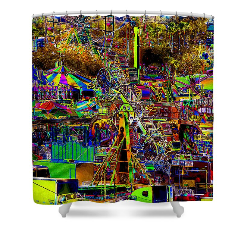 Carnival Shower Curtain featuring the painting Carnival by David Lee Thompson