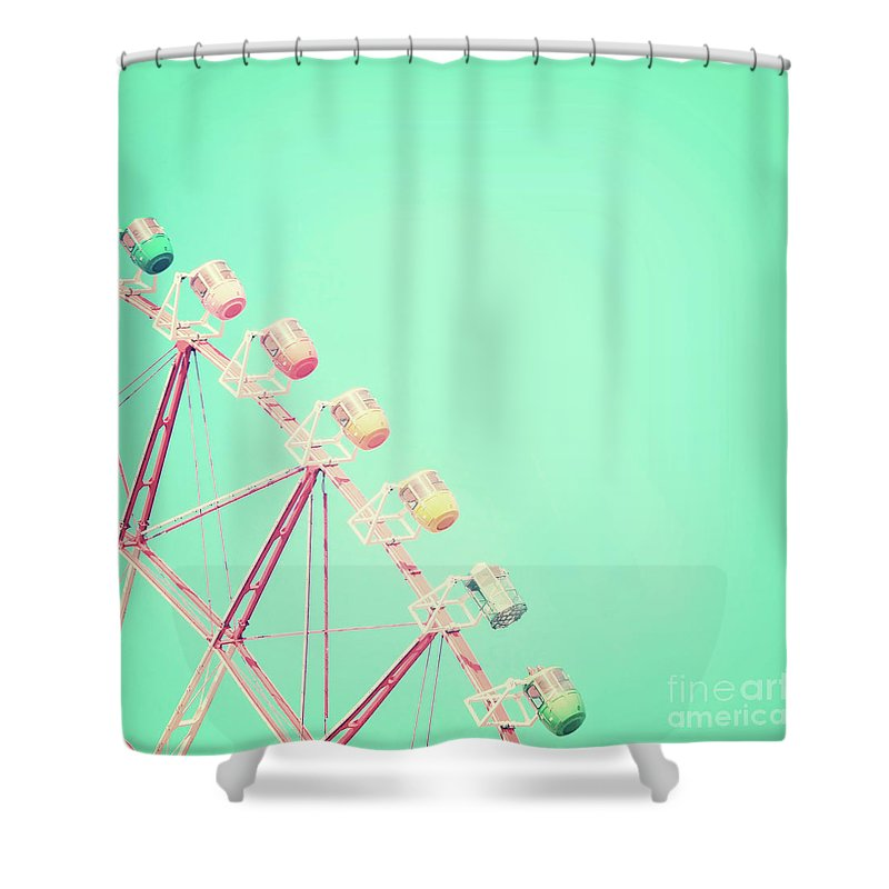 Carnival Shower Curtain featuring the photograph Carnival by Delphimages Photo Creations