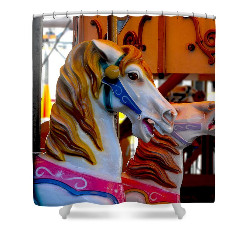 Carnival Shower Curtain featuring the photograph Carnival by Kristie Bonnewell