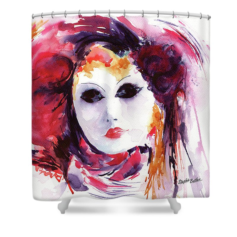 Stephie Shower Curtain featuring the painting Carnival by Stephie Butler