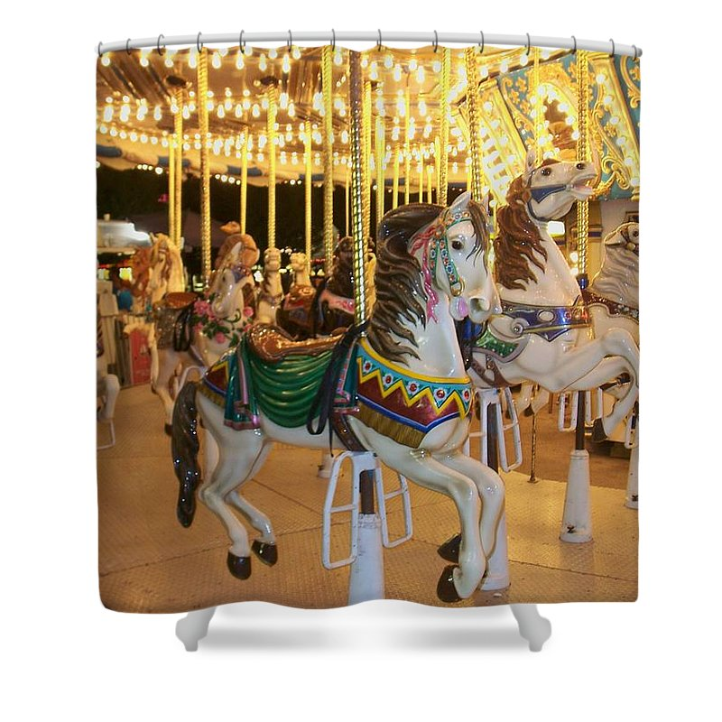 Carousel Horse Shower Curtain featuring the photograph Carousel Horse 4 by Anita Burgermeister