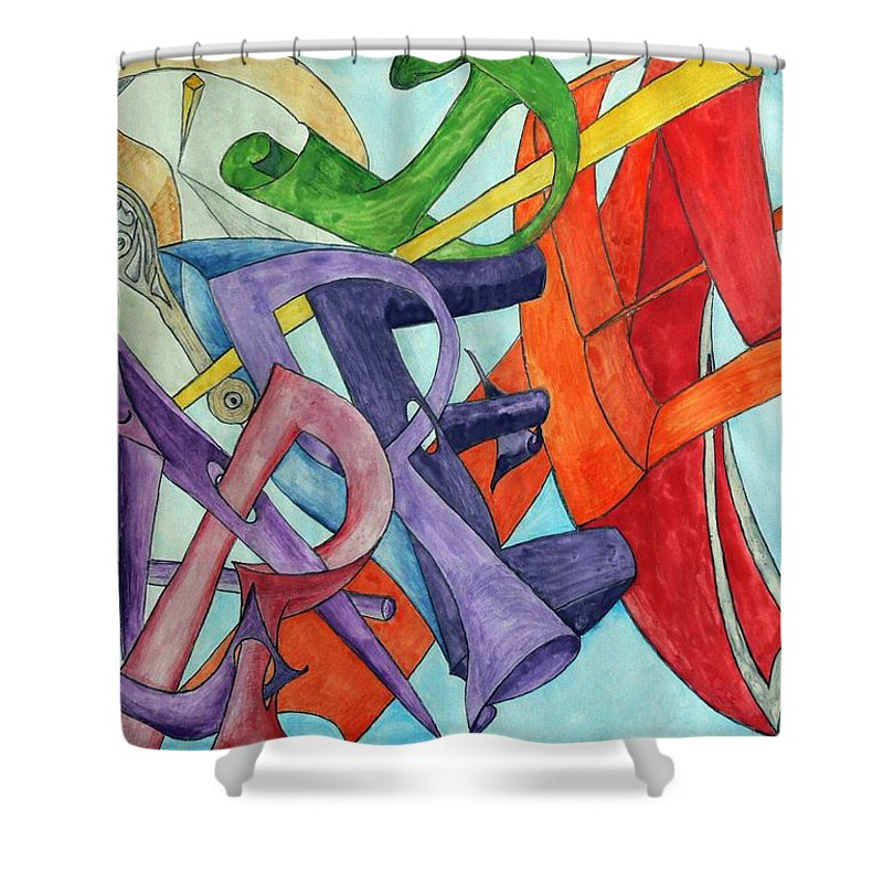 Carpe Diem Shower Curtain featuring the painting Carpe Diem by Helmut Rottler
