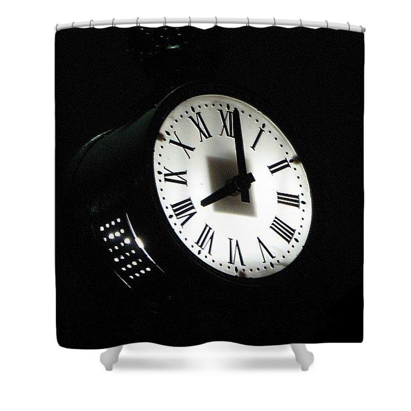 Clock Shower Curtain featuring the photograph Carpe Diem II by Dragica Micki Fortuna