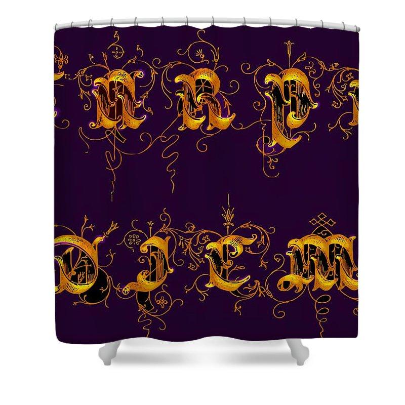 Carpediem Shower Curtain featuring the digital art Carpediem Redgold by Helmut Rottler