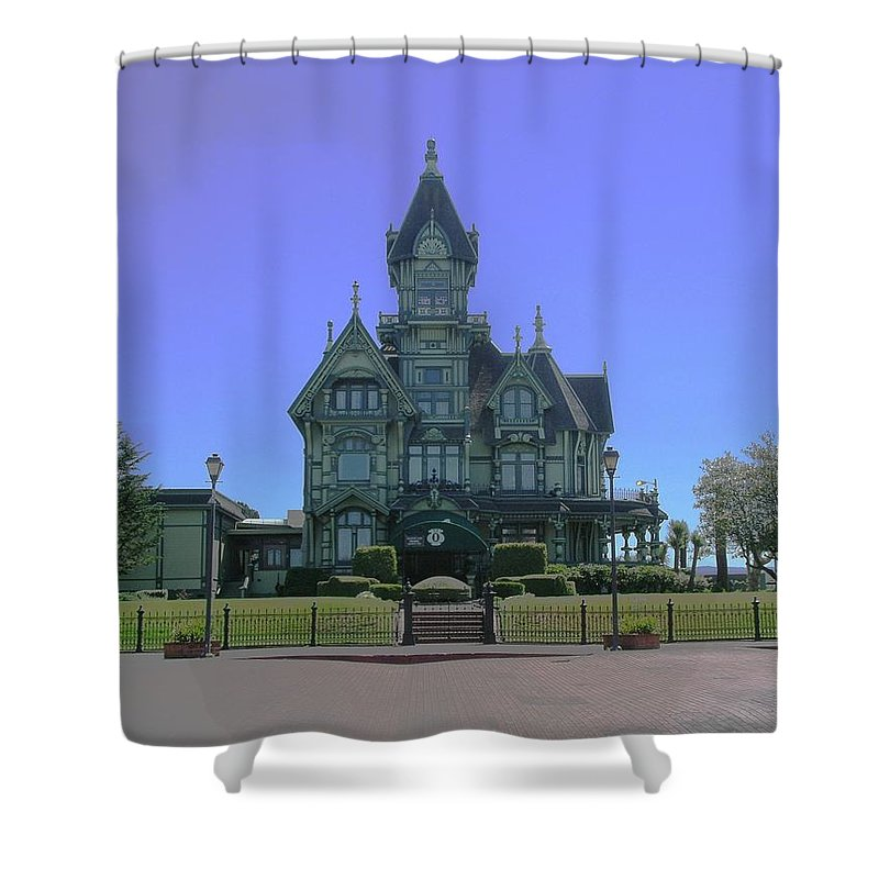 California Shower Curtain featuring the photograph Carson Mansion by Rich Bodane