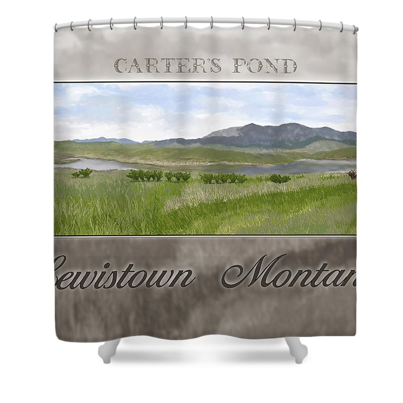 Pond Shower Curtain featuring the digital art Carter's Pond by Susan Kinney