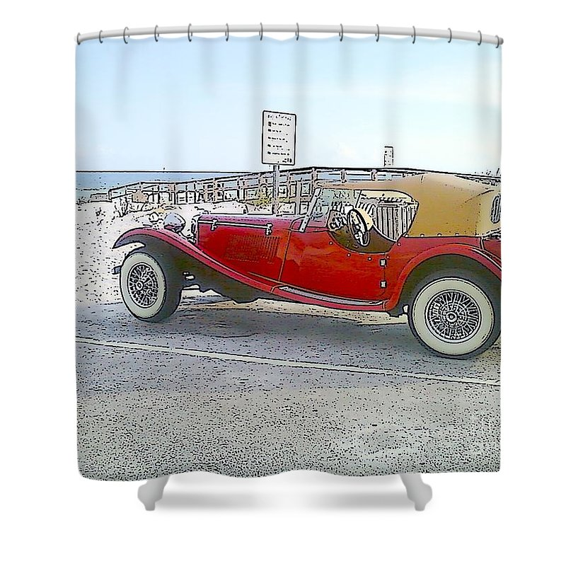 Cartoon Shower Curtain featuring the photograph Cartoon Car by Michelle Powell