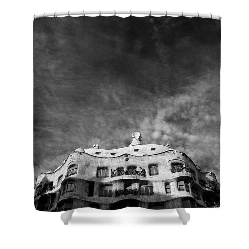 Casa Mila Shower Curtain featuring the photograph Casa Mila by Dave Bowman