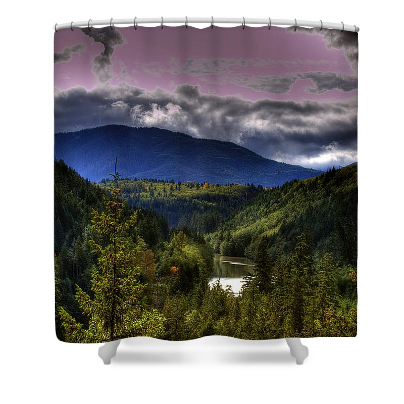 Cascade Mountains Shower Curtain featuring the photograph Cascades View by David Patterson