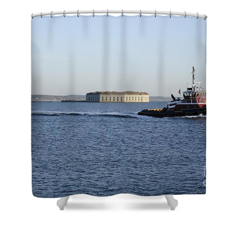 Portland Shower Curtain featuring the photograph Casco Bay - South Portland Maine Usa by Erin Paul Donovan