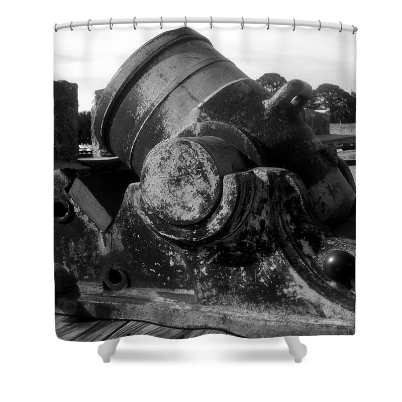 Cannon Shower Curtain featuring the photograph Castillo Cannon by David Lee Thompson