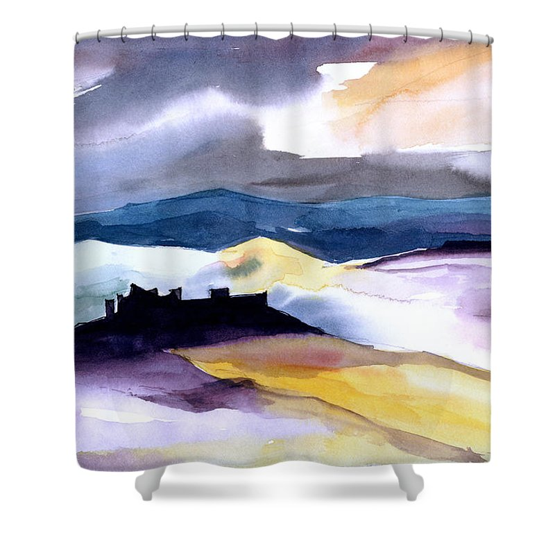 Water Shower Curtain featuring the painting Castle by Anil Nene