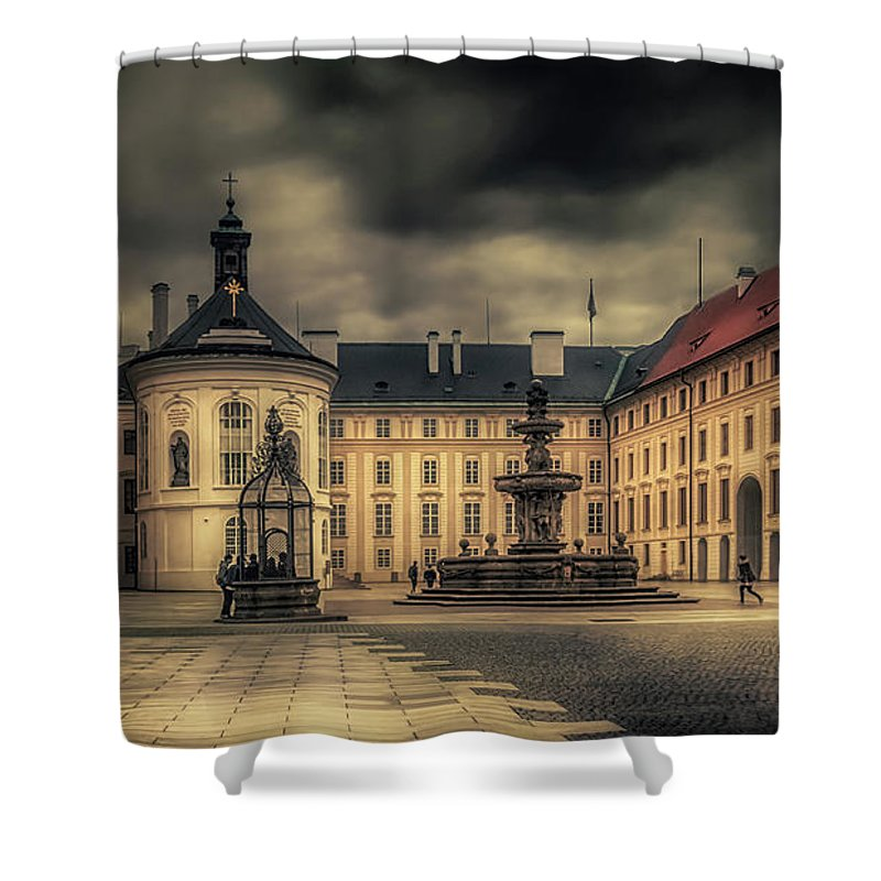 Castle Hill Shower Curtain featuring the photograph Castle Hill In Color by Laura Macky