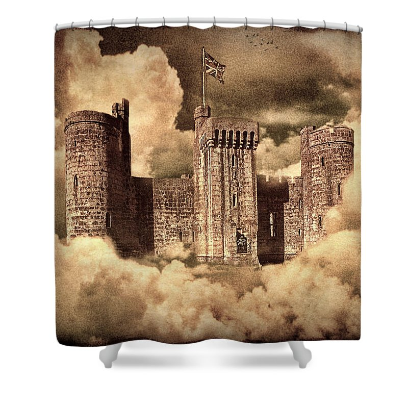 Castle Shower Curtain featuring the photograph Castle In The Clouds by Chris Lord