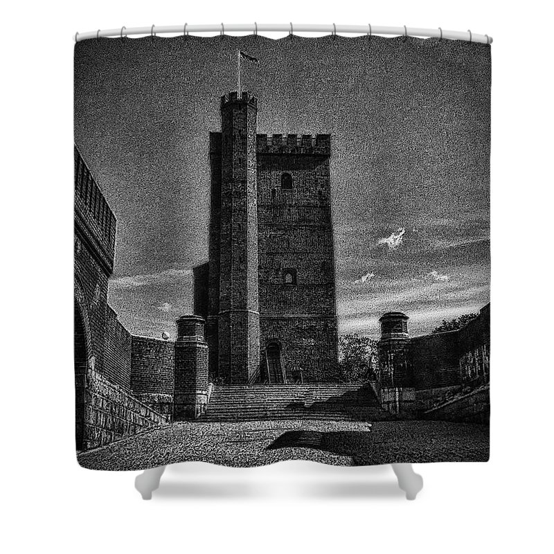 Architecture Shower Curtain featuring the photograph Castle Of Helsingborg by Ramon Martinez