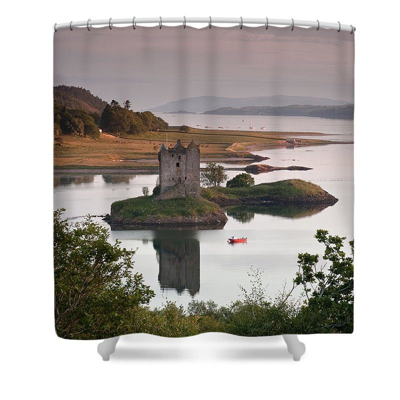 Scotland Shower Curtain featuring the photograph Castle Stalker by Colette Panaioti