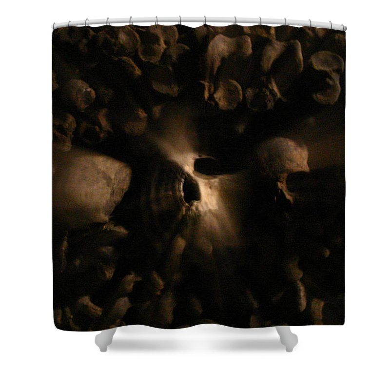Shower Curtain featuring the photograph Catacombs - Paria France 3 by Jennifer McDuffie