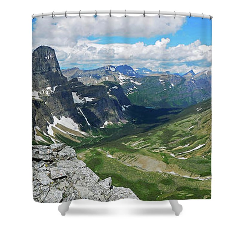 Glacier National Park Shower Curtain featuring the photograph Cataract by Wildscape Panoramas