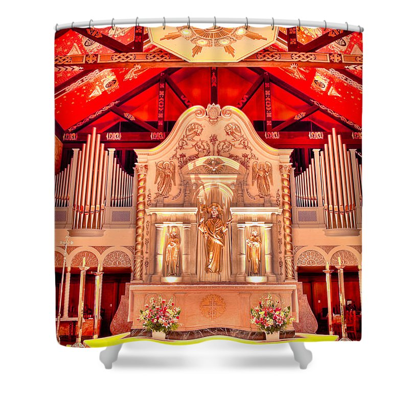 Cathedral Shower Curtain featuring the photograph Cathedral Basilica Of St. Augustine by Rich Leighton
