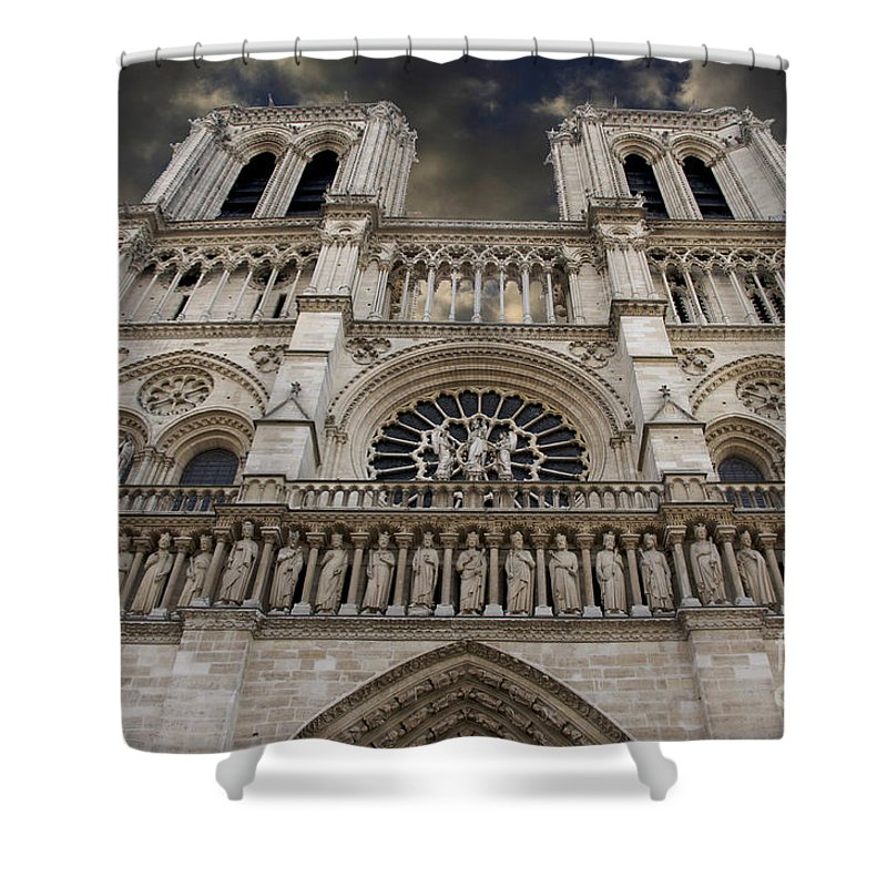 Architecture Shower Curtain featuring the photograph Cathedral Notre Dame Of Paris. France  by Bernard Jaubert