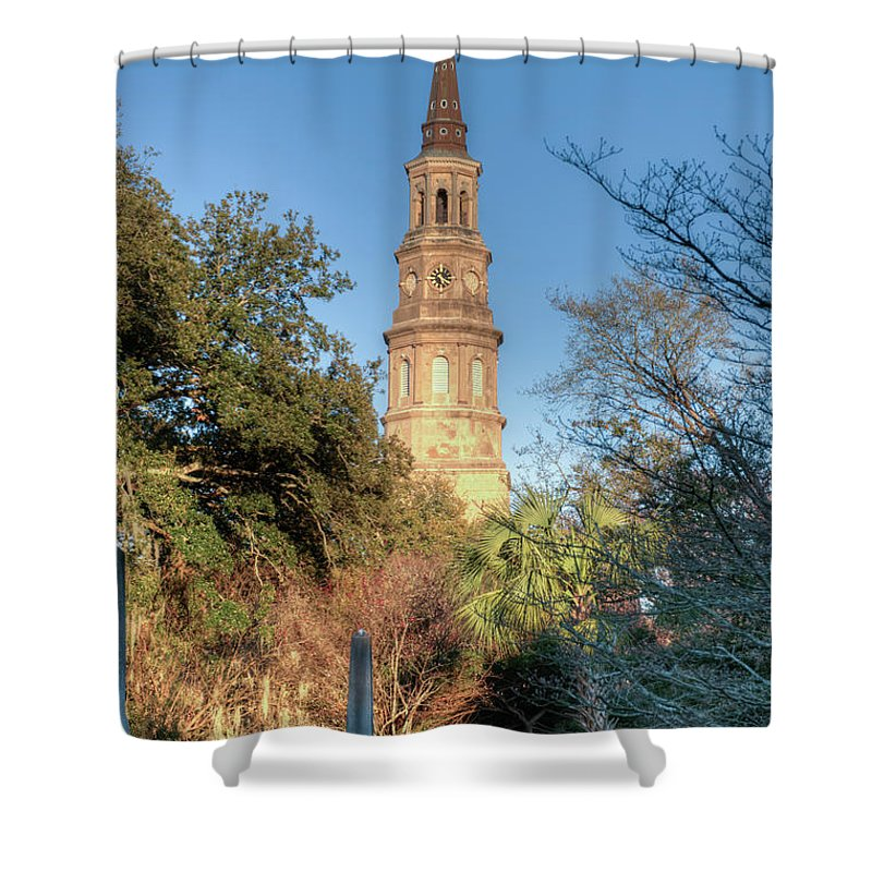 Gothic Shower Curtain featuring the photograph Cathedral Of St. John The Baptist by Douglas Barnett