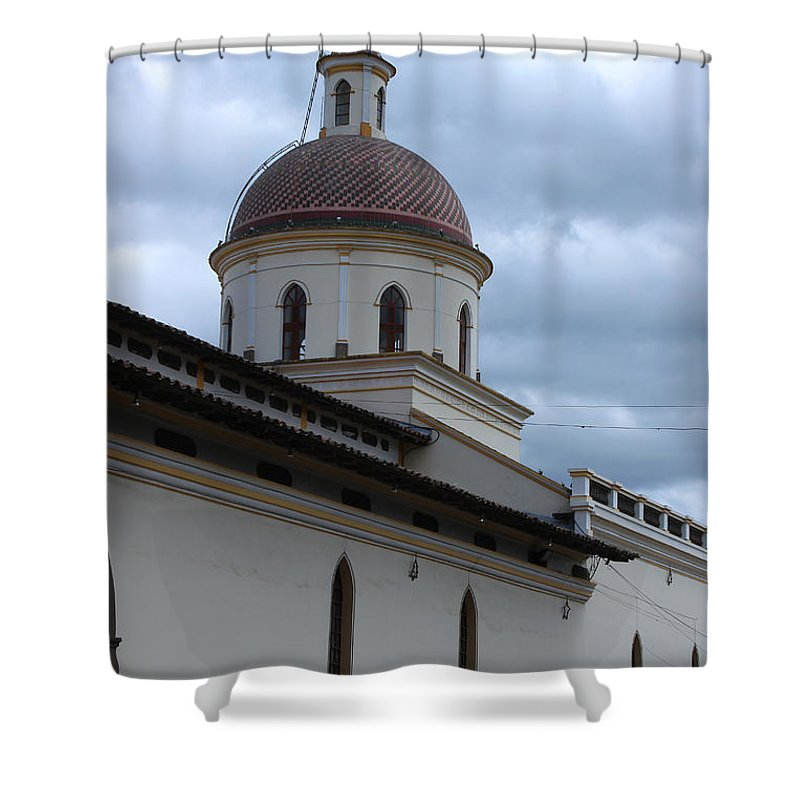 Church Shower Curtain featuring the photograph Catholic Church by Robert Hamm