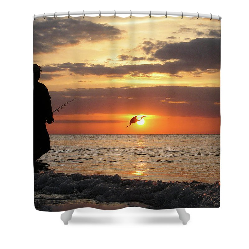 Sarasota Shower Curtain featuring the photograph Caught At Sunset by Dick Goodman