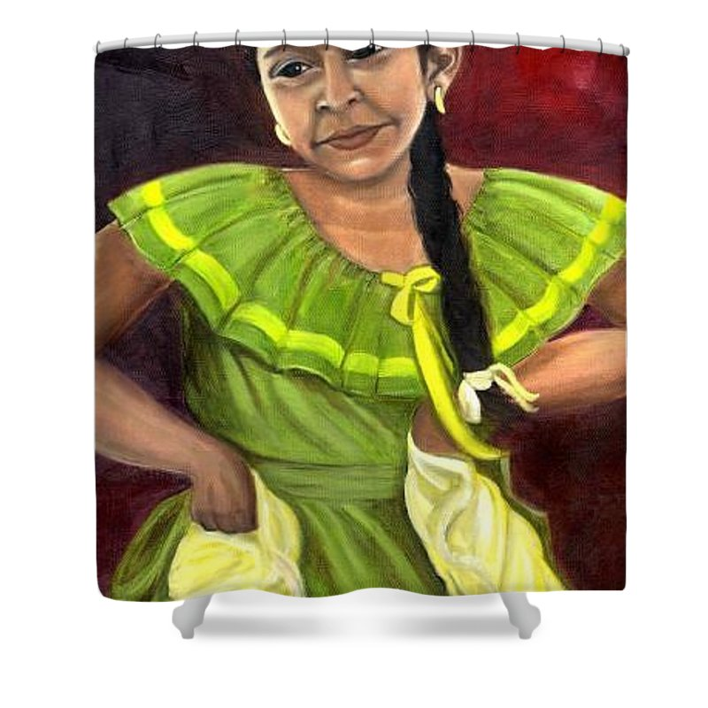Shower Curtain featuring the painting Cecelia by Toni Berry